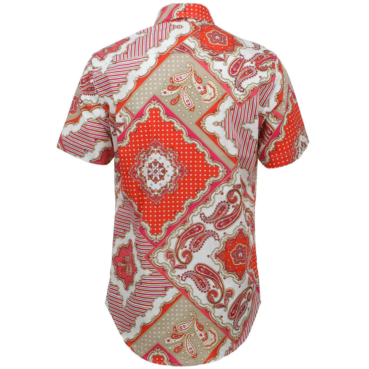 Tailored Fit Short Sleeve Shirt - Abstract Paisley & Polka Dots