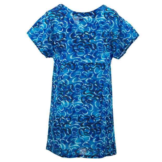 Lolo Short Shift Dress - Serpentine Blue