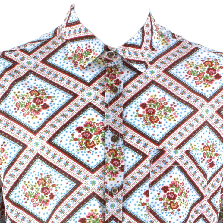 Regular Fit Long Sleeve Shirt - Diamond Floral