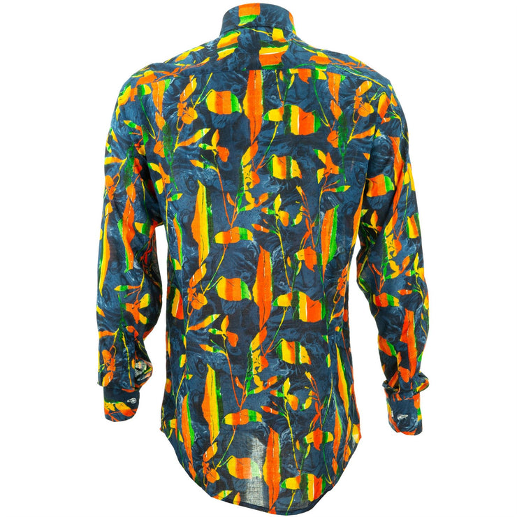Regular Fit Long Sleeve Shirt - Lava Flow
