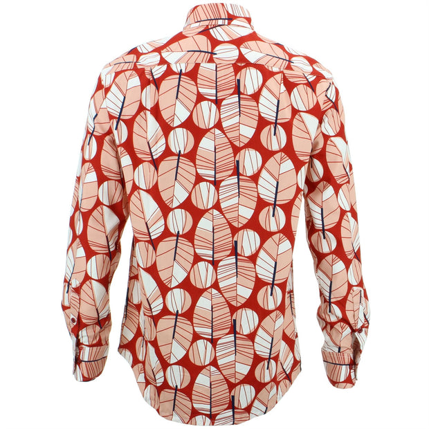 Regular Fit Long Sleeve Shirt - Abstract Leaves