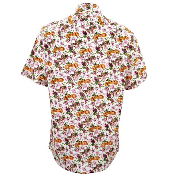 Regular Fit Short Sleeve Shirt - Butterfly Meadow