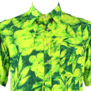 Regular Fit Short Sleeve Shirt - Bright Green Floral