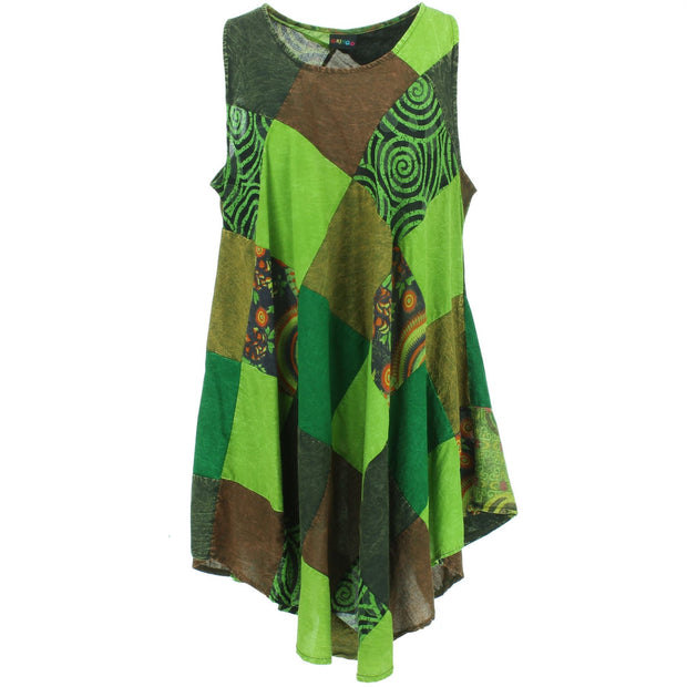Summer Patch Dress - Green