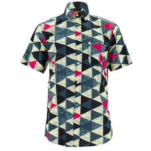 Regular Fit Short Sleeve Shirt - Triangles