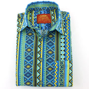 Slim Fit Short Sleeve Shirt - Aztec
