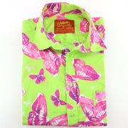 Regular Fit Short Sleeve Shirt - Neon Butterflies
