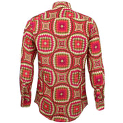 Tailored Fit Long Sleeve Shirt - Red Illusion