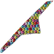 Bandana Face Cover Mask - Peace Sign Rainbow