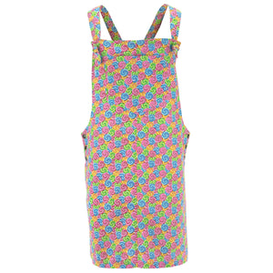 Chic Tea Shift Dungaree Dress - Swirling Candy