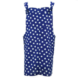 Chic Tea Shift Dungaree Dress - Stars
