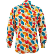 Regular Fit Long Sleeve Shirt - Autumn Leaves
