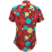 Tailored Fit Short Sleeve Shirt - Bold Polka Dots