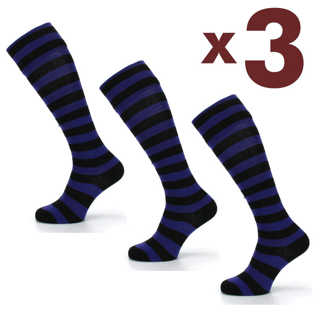 Long Knee High Striped Socks - Set 3
