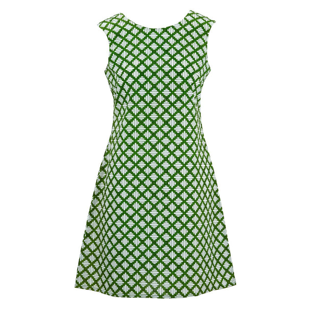 Nifty Shifty Dress - Verde Trellis