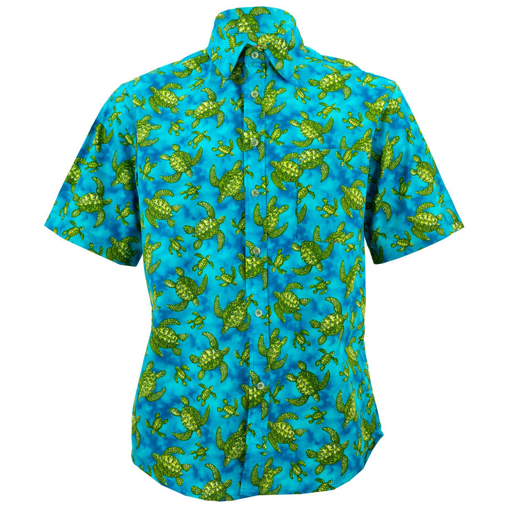Regular Fit Short Sleeve Shirt - Sea Turtles
