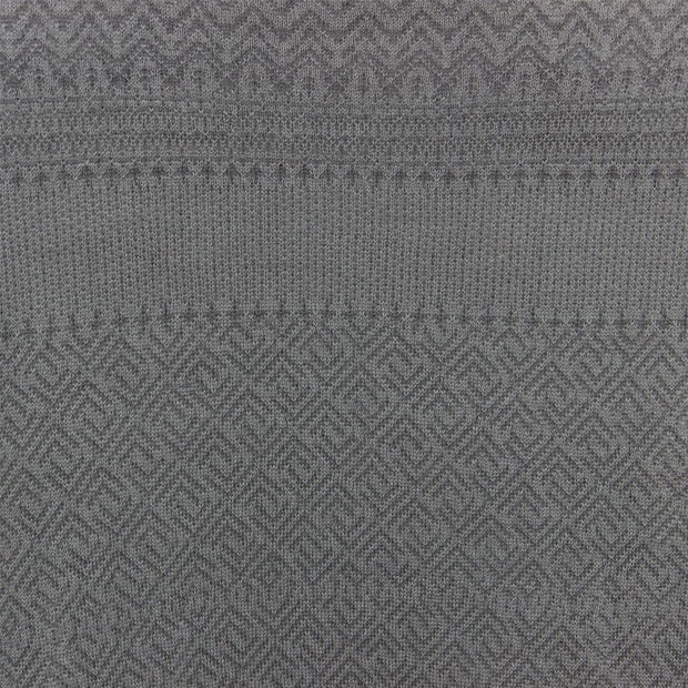 Wool Blend Knit Jumper with Nordic Fair Isle Design - Grey Lavender
