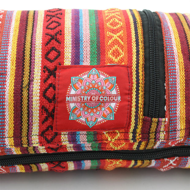 Cotton Canvas Yoga Mat Bag - Blood Orange