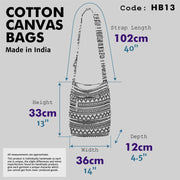 Cotton Canvas Sling Shoulder Bag - Purple Pink