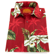 Regular Fit Short Sleeve Shirt - Red Palm