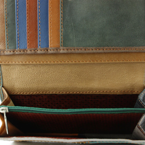 Real Leather Colourful Purse Wallet - Green