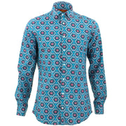Tailored Fit Long Sleeve Shirt - Floral Wave