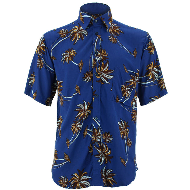 Regular Fit Short Sleeve Shirt - Palm Trees