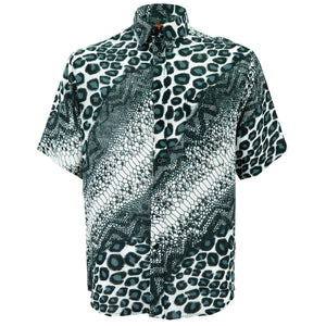 Regular Fit Short Sleeve Shirt - Jungle Menagerie - Grey