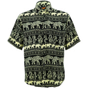 Regular Fit Short Sleeve Shirt - Elephant Paisley