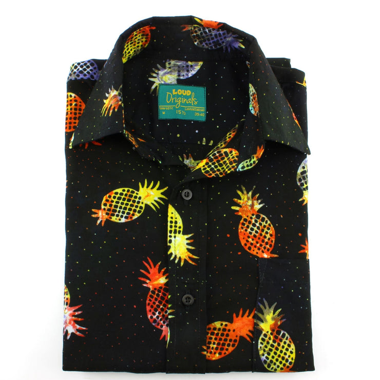 Tailored Fit Short Sleeve Shirt - Rainbow Pineapples
