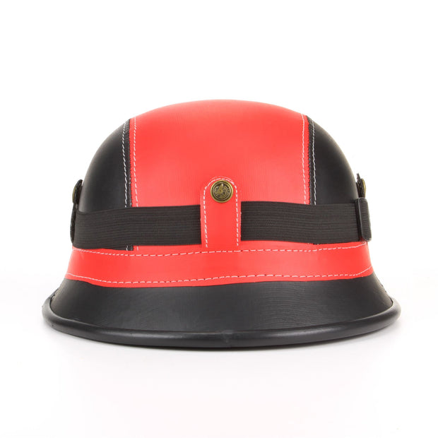 Combat Novelty Festival Helmet with Goggles - Red & Black