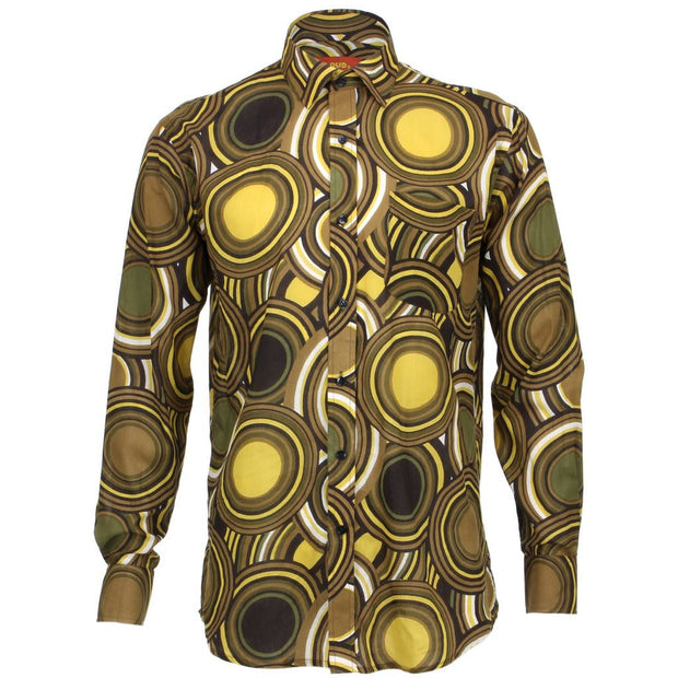 Regular Fit Long Sleeve Shirt - Retro Circles
