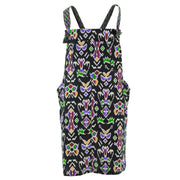 Chic Tea Shift Dungaree Dress - Black Tribal