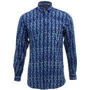 Tailored Fit Long Sleeve Shirt - Block Print - Farfalle