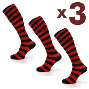 Long Knee High Striped Socks - Set 2