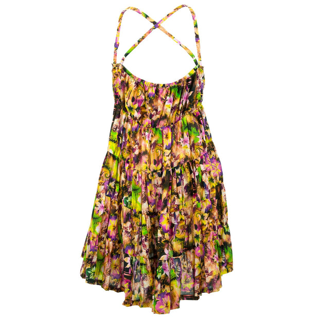 Tier Drop Summer Dress - Spring Tendrils