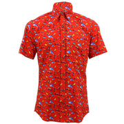 Tailored Fit Short Sleeve Shirt - Fish