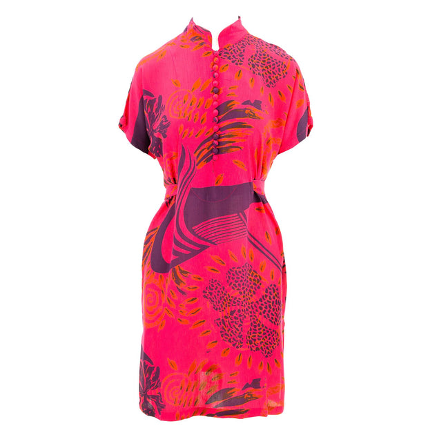 Mandarin Mini Dress - Red Odyssey