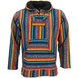Brushed Cotton Baja Hoodie - Rainbow