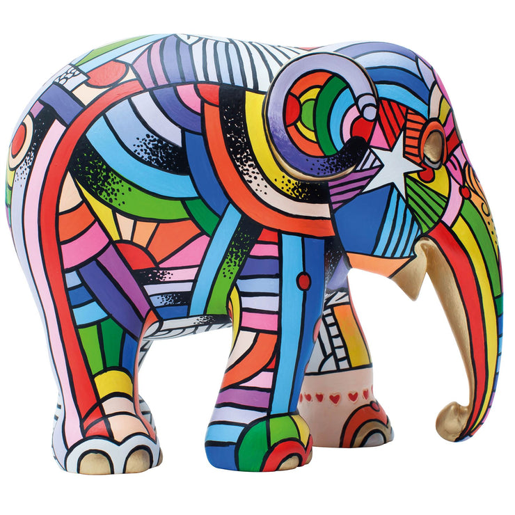 Limited Edition Replica Elephant - Peace, Love and Music