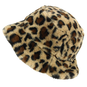 LoudElephant Soft Faux Fur Ladies Hat - Leopard
