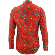 Tailored Fit Long Sleeve Shirt - Cartoon Ellies Red