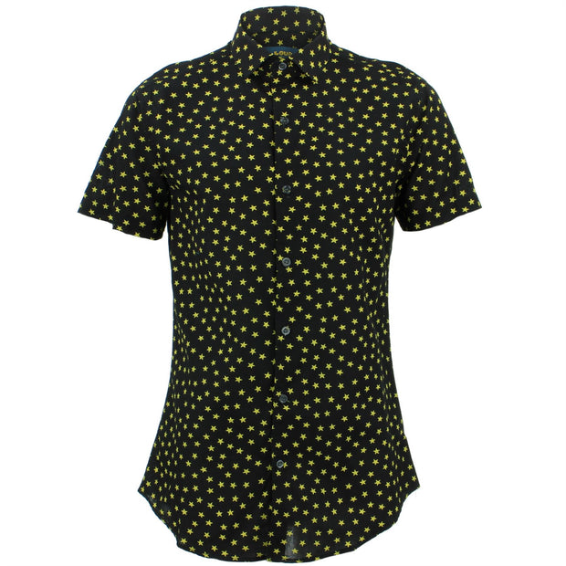 Tailored Fit Short Sleeve Shirt - Ditzy Yellow Stars
