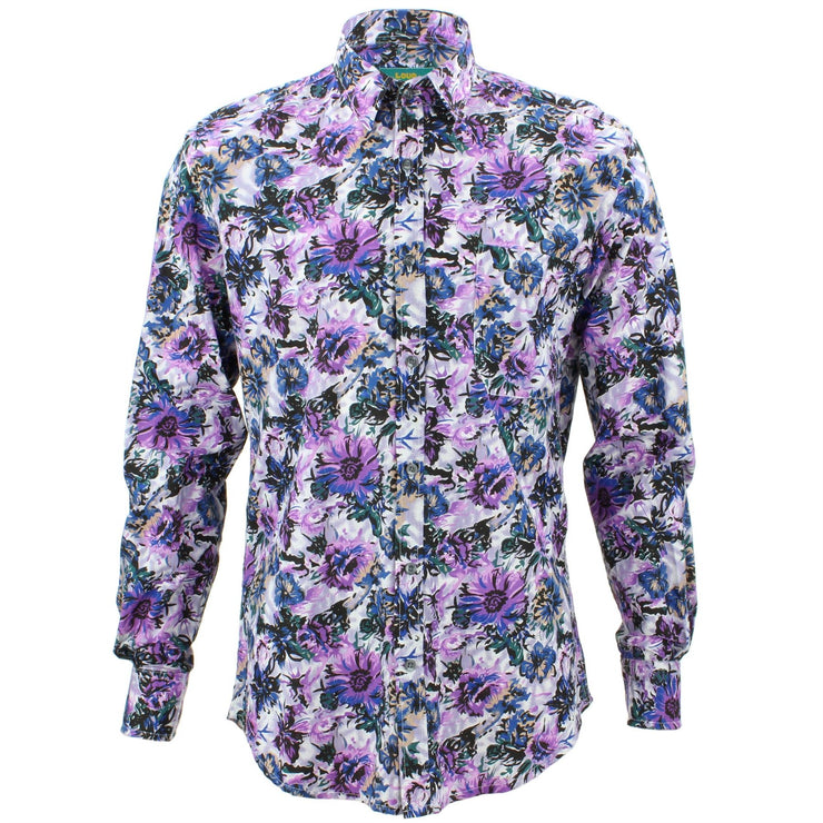Tailored Fit Long Sleeve Shirt - Watercolour Floral