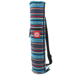 Cotton Canvas Yoga Mat Bag - Purple Sky