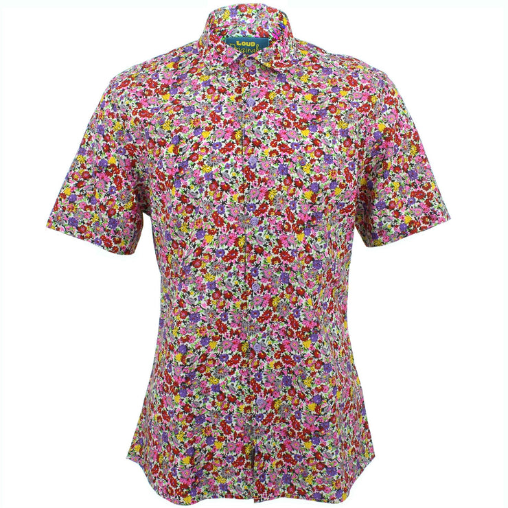 Slim Fit Short Sleeve Shirt - Ditzy Floral