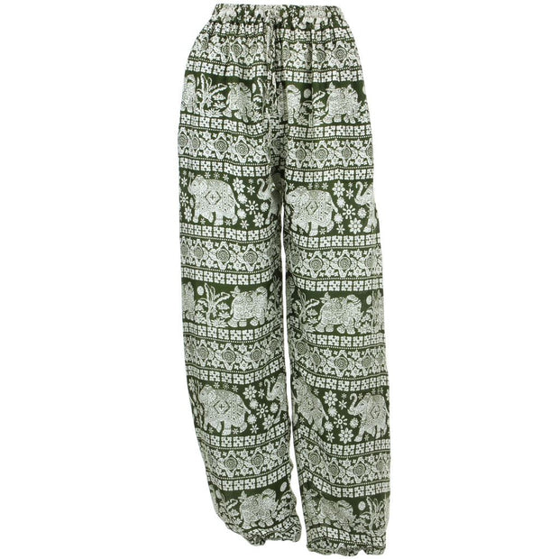 Loose Ali Baba Harem Elephant Trousers Pants - Green