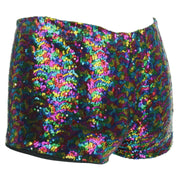 Sequin Hot Pants - Rainbow