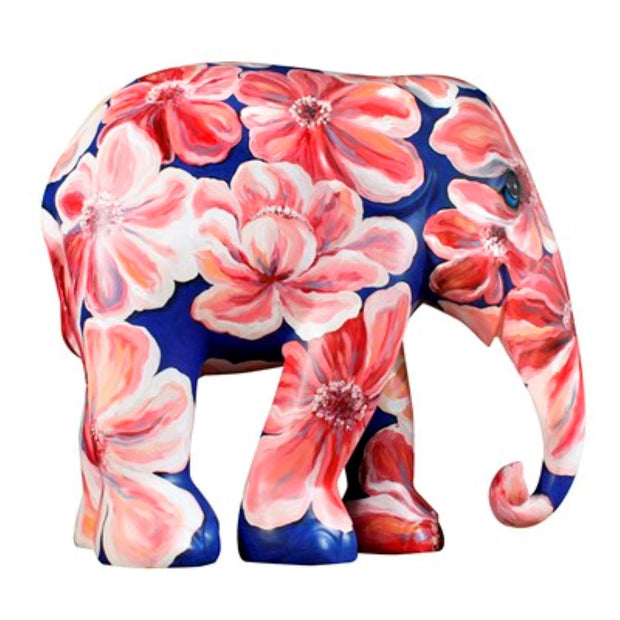 Limited Edition Replica Elephant - Flower Impression (10cm)