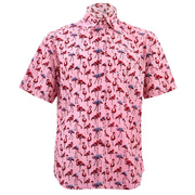 Regular Fit Short Sleeve Shirt - Flamingos